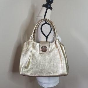 Kate Spade Stevie metallic gold shoulder hand bag